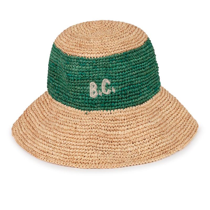 【 Bobo Choses 2019SS 】119242 B.C. Wicker Hat (Kid sizeのみ)