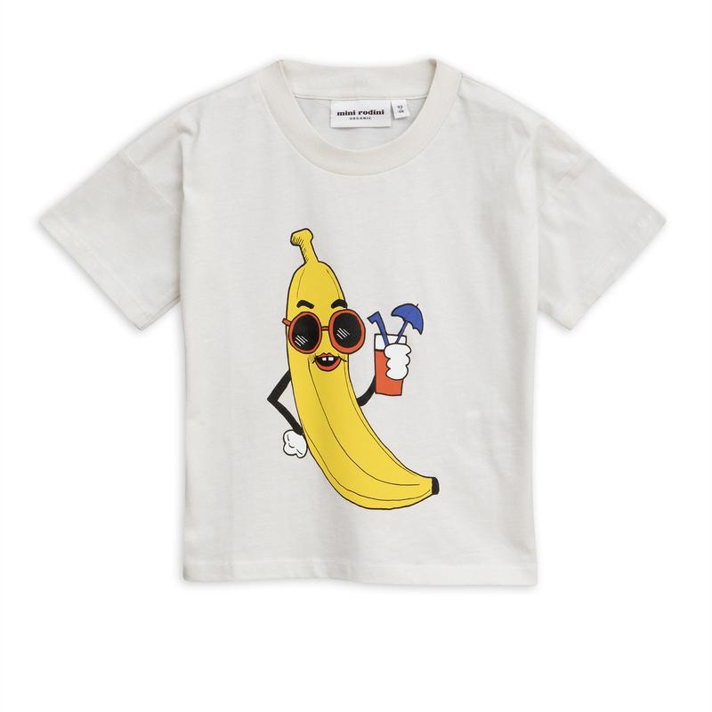 【 mini rodini 2019SS 】20129  Banana sp tee / Offwhite