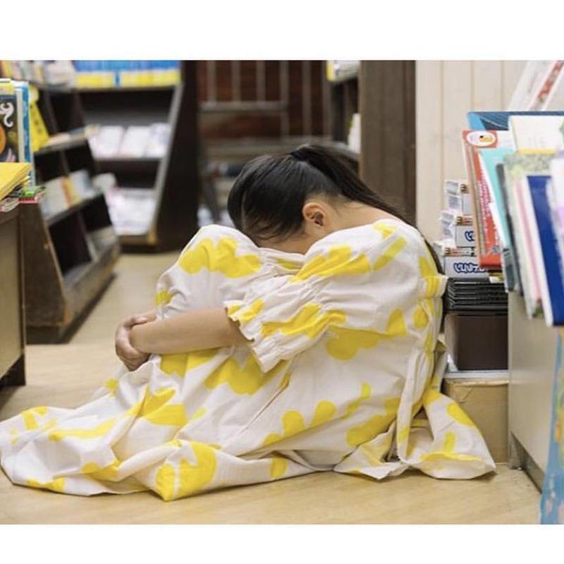 {中村様専用ページ}【 UNIONINI 2019SS 】camo long dress / ecruxyellow / 4-6Y