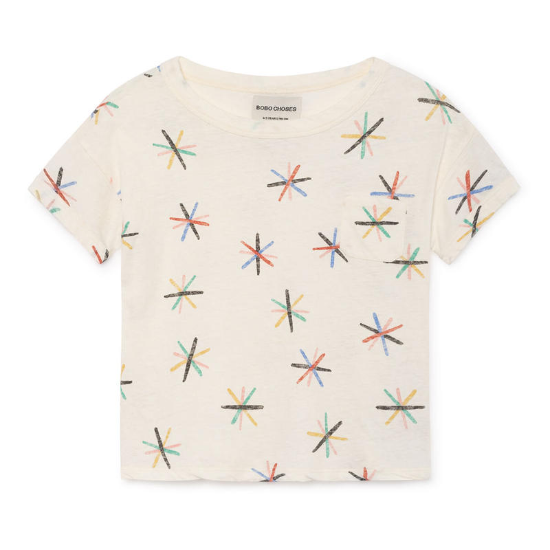【 Bobo Choses 2019SS 】119011 Dandelion Linen T-Shirt