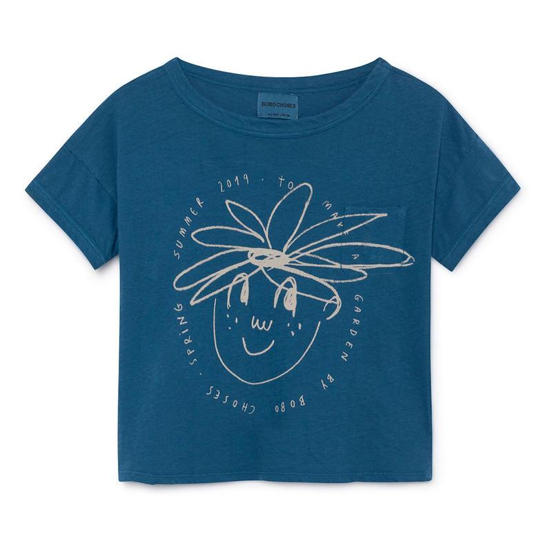 【 Bobo Choses 2019SS 】119012 Daisy Linen T-Shirt