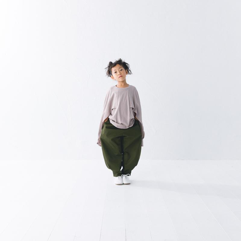 【 nunuforme 2019SS 】nf11-618-006A ヘムタックカーブパンツ / Khaki / レディースサイズ