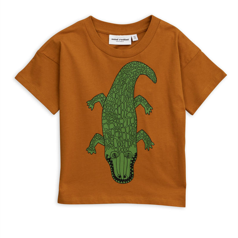 【 mini rodini 2019SS 】20128  Crocco sp tee / Brown