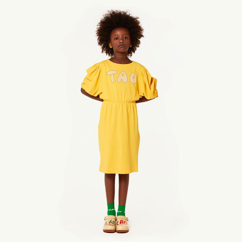 【 THE ANIMALS OBSERVATORY 2019SS 】SWALLOW KIDS DRESS / yellow