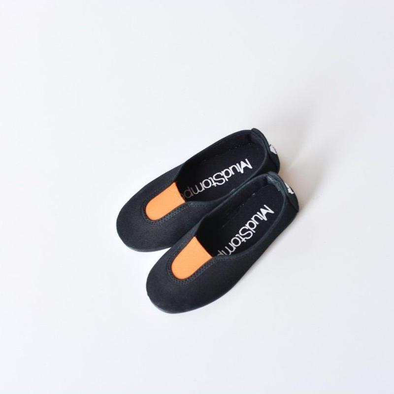 【 La Cadena 2018SS 】 SLIP ON / Black x Orange / size 15〜19cm