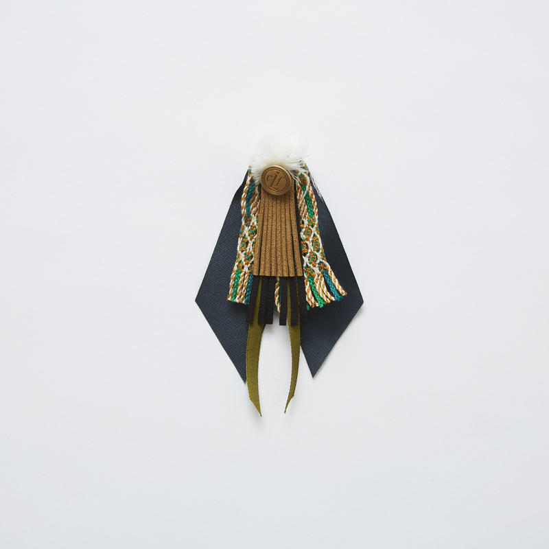 【 eLfinFolk 2019SS 】elf-191A41 cicada brooch / green
