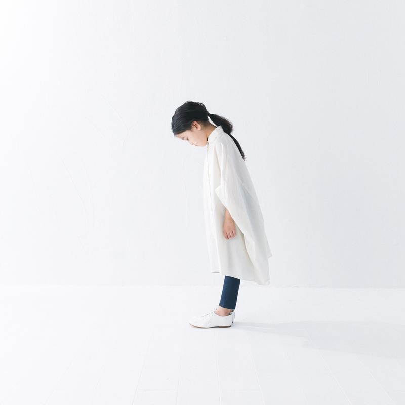 【 nunuforme 2019SS 】nf11-415-001 サークルシャツワンピース / Ivory