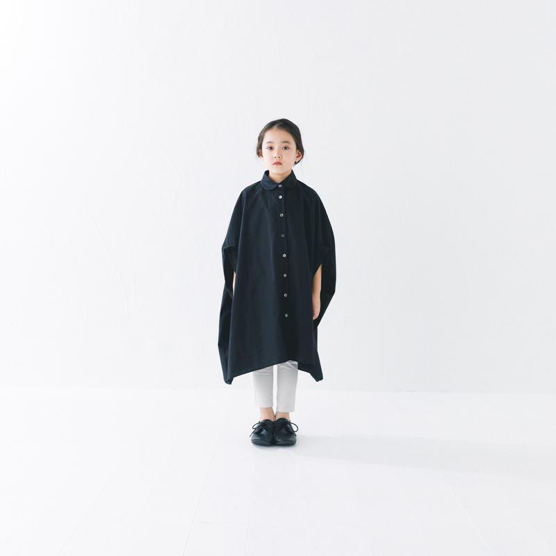 【 nunuforme 2019SS 】nf11-415-001 サークルシャツワンピース / Black
