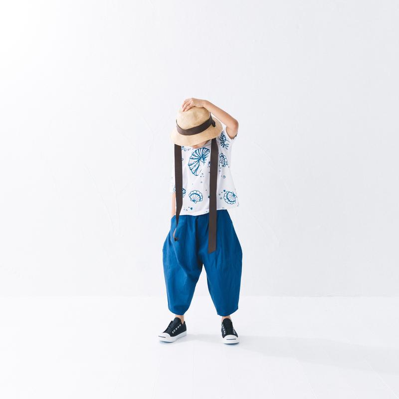 【 nunuforme 2019SS 】nf11-621-005ポインテットパンツ / Blue