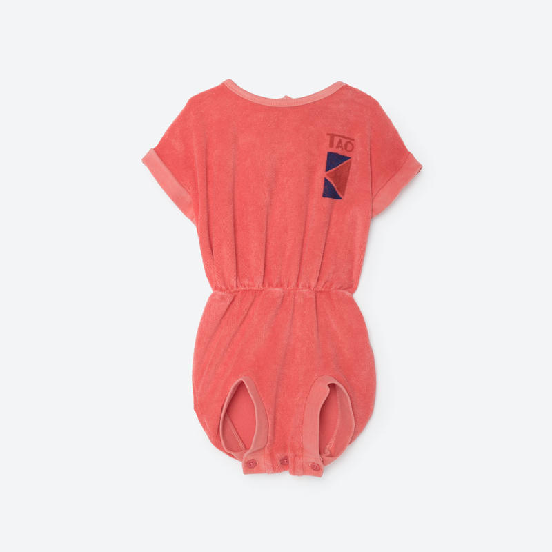 【THE ANIMALS OBSERVATORY 2017SS】KOALA BABY BODY SUIT / CORAL / size 6M