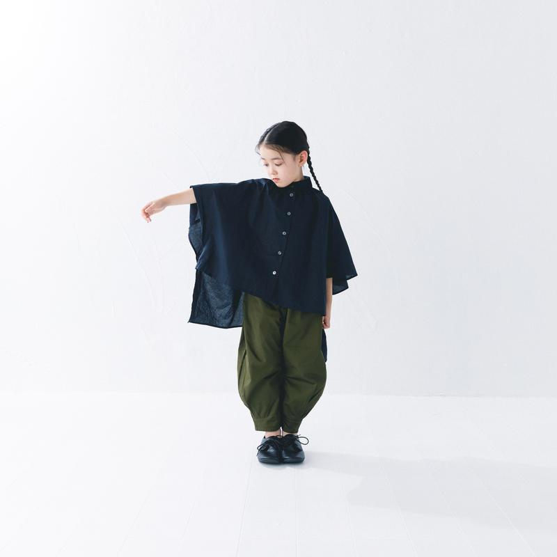【 nunuforme 2019SS 】nf11-618-006 ヘムタックカーブパンツ / Khaki
