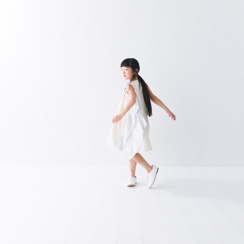 【 nunuforme 2019SS 】nf11-411-006スクエアパッチワンピース / Ivory