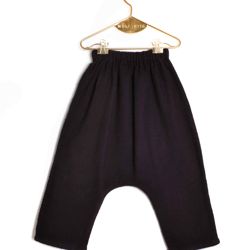 【 WOLF&RITA BABY 2018AW 】 NELSON - Baggy Trousers / BLACK - FLANNEL