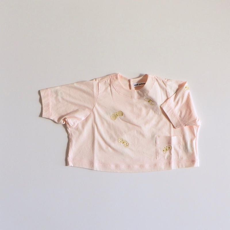 """【 ミナペルホネン 19SS 】XS8958P choucho """"トップス"""" / light pink / 80-100cm"""