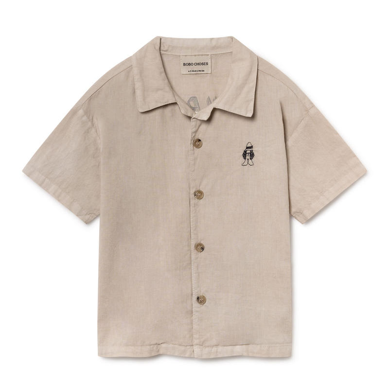 【 Bobo Choses 2019SS 】119274 Open Hawaiana Shirt
