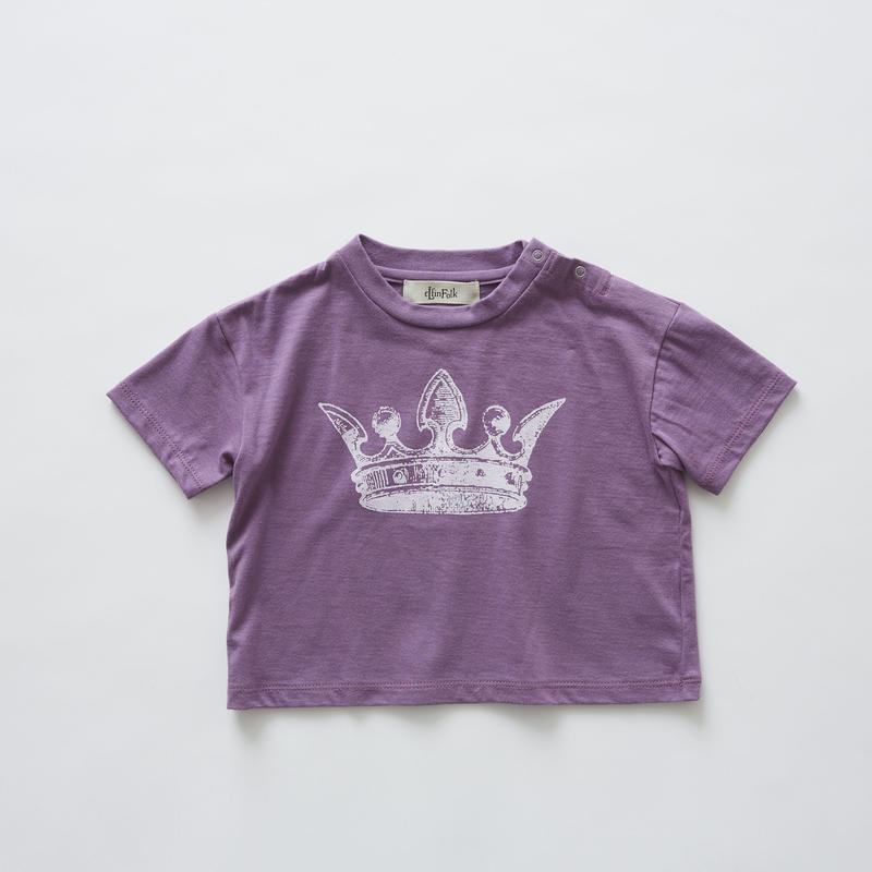 【 eLfinFolk 2019SS 】elf-191J02 crown T-shirts / purple