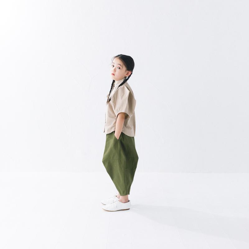 【 nunuforme 2019SS 】nf11-621-005ポインテットパンツ / Kahki