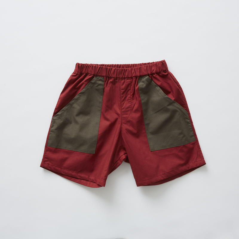 【 eLfinFolk 2019SS 】elf-191F21 typewriter shorts / burgundy