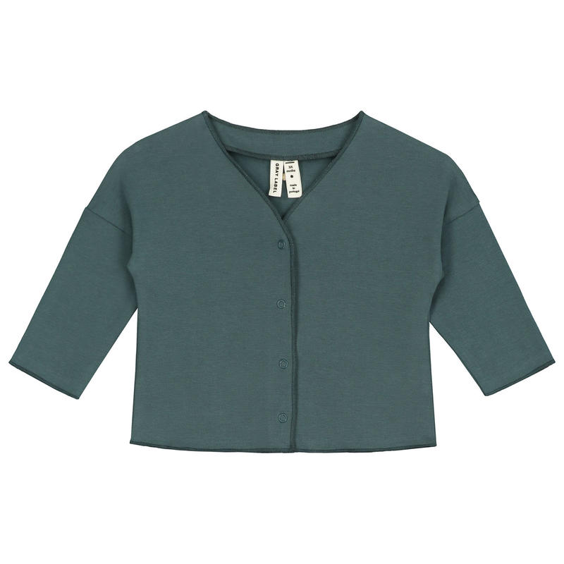 【 GRAY LABEL 2019SS】Baby V-Neck Cardigan / Blue Grey / 9-12m