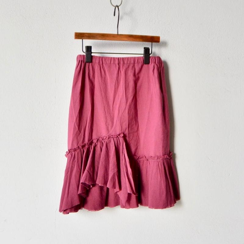 【 folk made 2018SS】No.16 tulle skirt / エビチャイロ