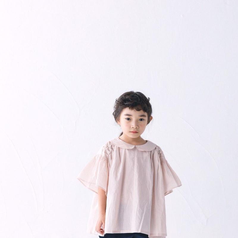 【 nunuforme 2019SS 】nf11-543-008オルタネイトブラウス / Pink beige