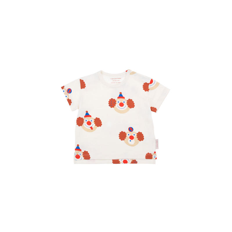 【 tiny cottons 2019SS 】SS19-042 'CLOWNS' SS TEE / off-white/sienna