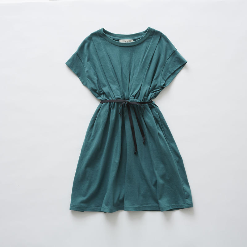 【 eLfinFolk 2019SS 】elf-191J04 waist gather dress / green