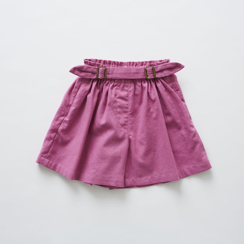 【 eLfinFolk 2019SS 】elf-191F31 linen canvas culotte pants / pink