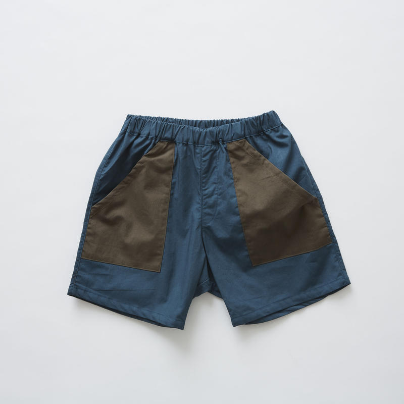 【 eLfinFolk 2019SS 】elf-191F21 typewriter shorts / blue