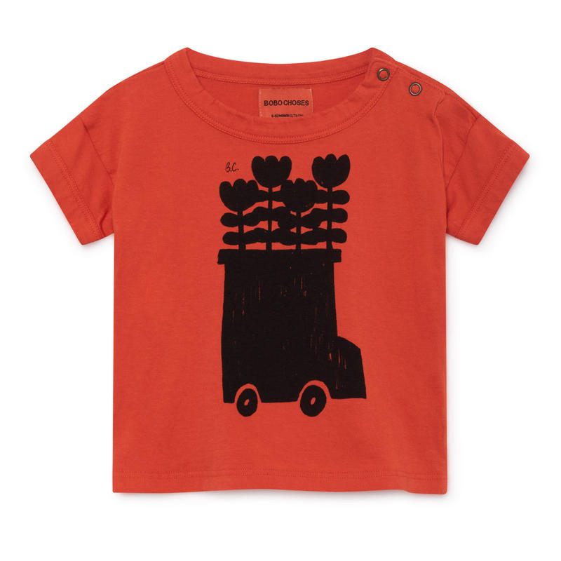 【 Bobo Choses 2019SS 】119156 Flower Bus Short Sleeve T-Shirt
