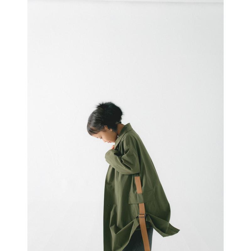 【 nunu forme 2018AW 】10-207-048 サイドリフトコート / Khaki