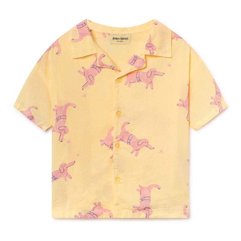 【 Bobo Choses 2019SS 】119047 Dogs Hawaiana Shirt