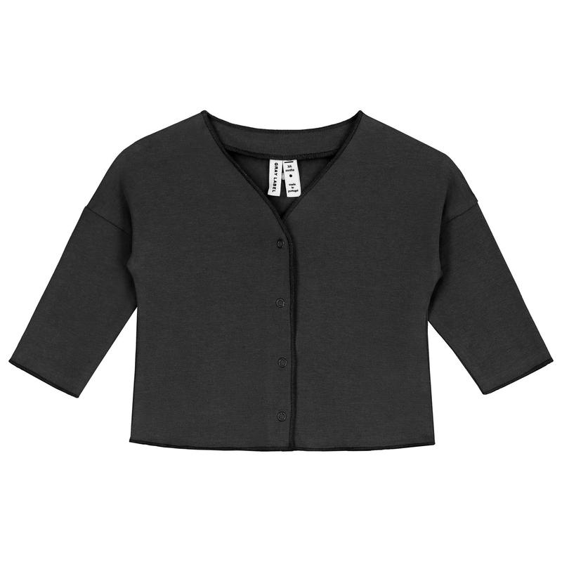 【 GRAY LABEL 2019SS】Baby V-Neck Cardigan / Nearly Black / 9-12m