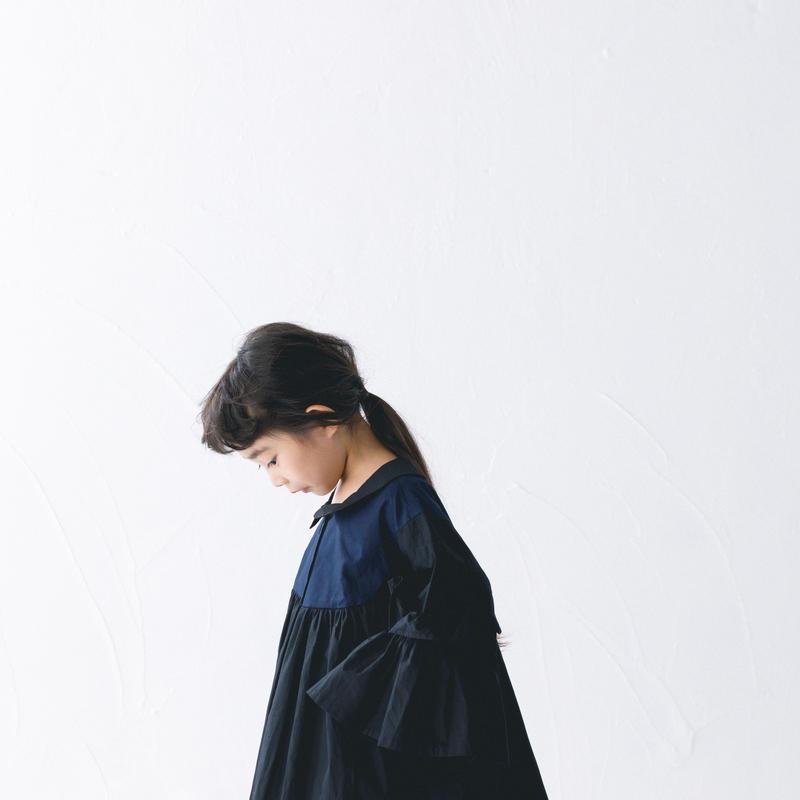 【 nunuforme 2019SS 】nf11-538-001A フリルスリーブブラウス / Black / レディースサイズ