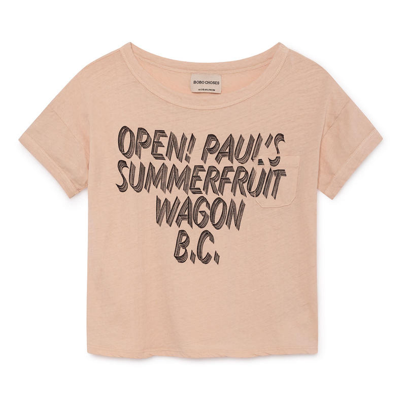 【 Bobo Choses 2019SS 】119014 Open Linen T-Shirt