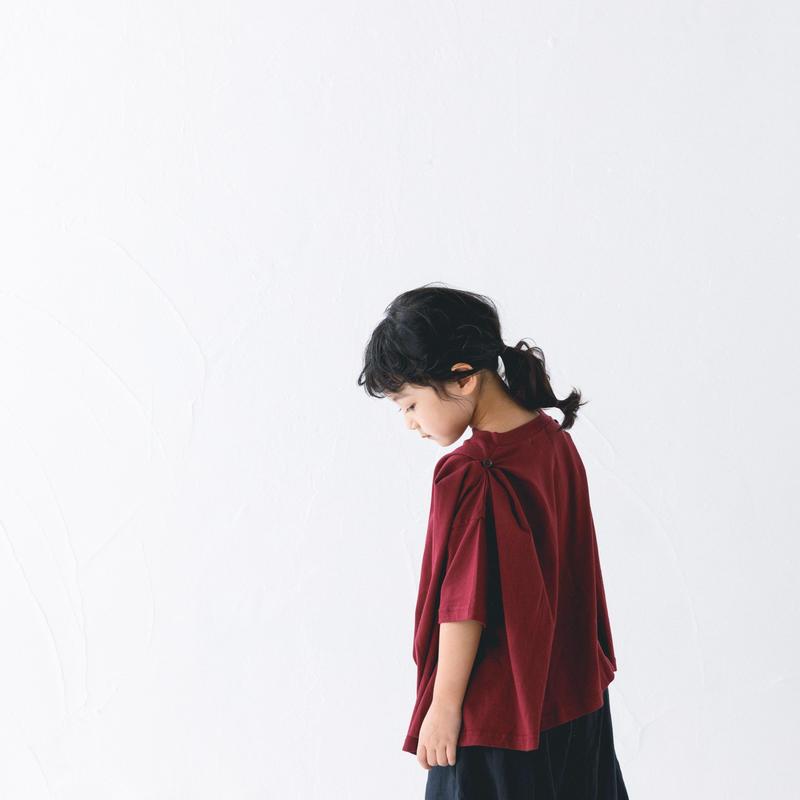 【 nunuforme 2019SS 】nf11-960-500A ショルダーボタンT / Deep red / レディースサイズ