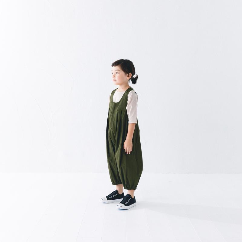【 nunuforme 2019SS 】nf11-412-006A  ビッグパンツサロペット / Khaki / レディースサイズ