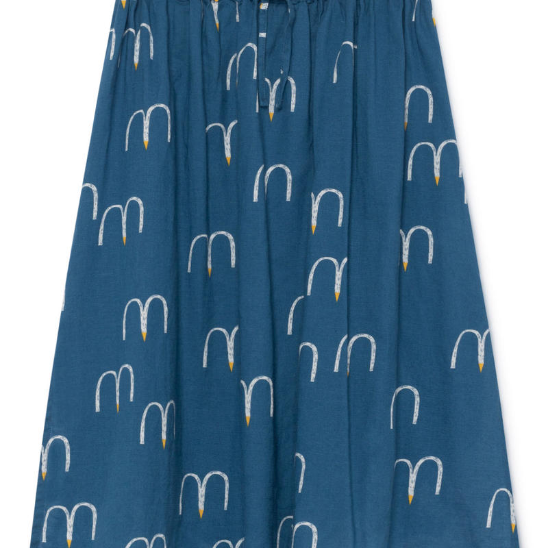 【 Bobo Choses 2019SS 】119109 Birds Midi Skirt