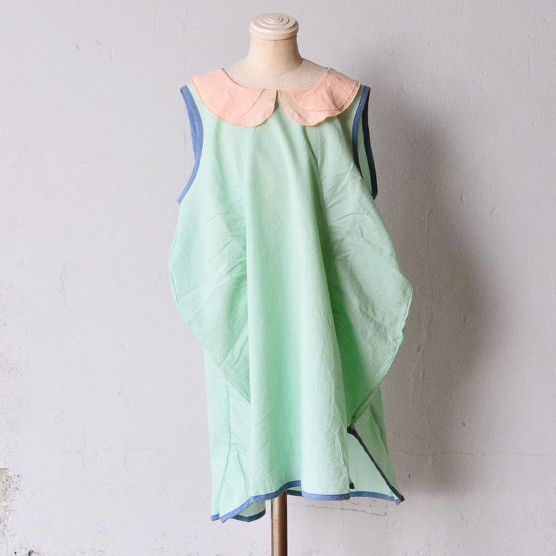 【 franky grow 2019SS 】OP-133 CLIONE DRESS DYED / MINT*PINK / S-L