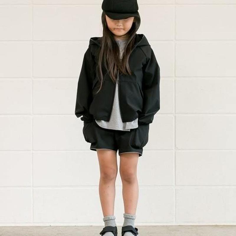 【 MOUN TEN. 2019SS 】rip stretch hoodie / black / 95