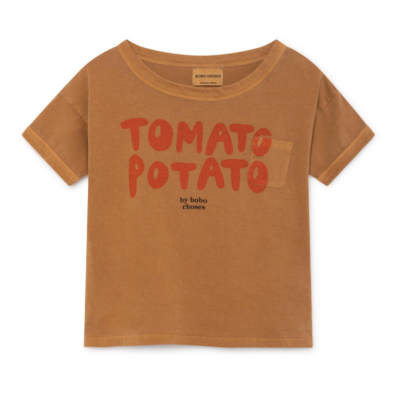【 Bobo Choses 2019SS 】119009 Tomato Potato Short Sleeve T-Shirt