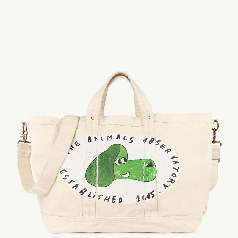 【 THE ANIMALS OBSERVATORY 2019SS 】BIG CANVAS TOTE ONESIZE BAG / cream