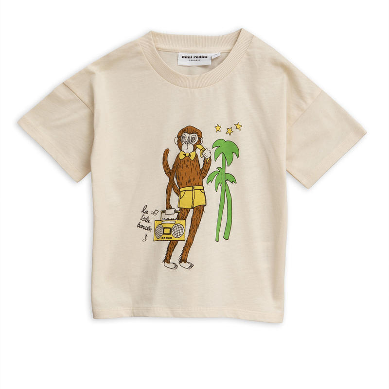 【 mini rodini 2019SS 】20127  Cool monkey sp tee / Offwhite