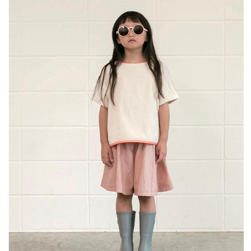 【 MOUN TEN. 2019SS 】THING FABRICS collaboration Tシャツ / ecru / 110-140