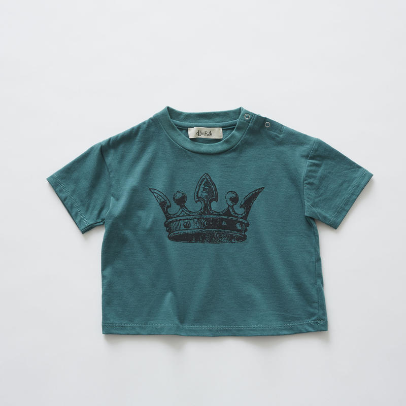 【 eLfinFolk 2019SS 】elf-191J02 crown T-shirts / green