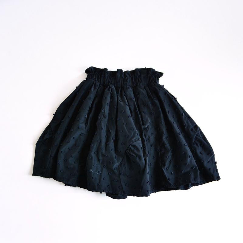 【 franky grow 2019SS 】BT-226 BONBON CUT JQ CUT SWITCHING SKIRT / BLACK*BLACK BONBON / LL
