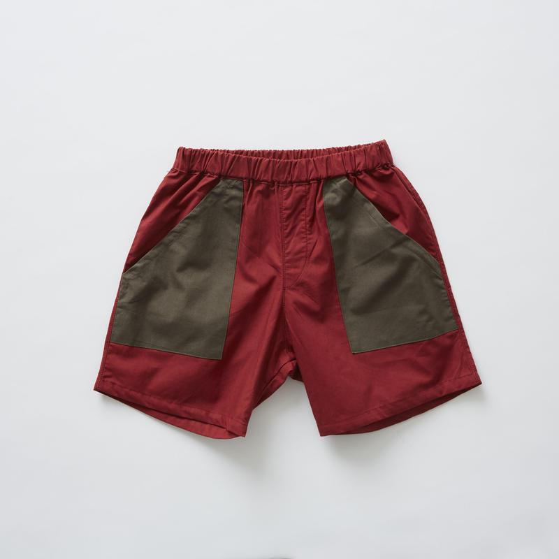 【 eLfinFolk 2019SS 】elf-191F20 typewriter shorts / burgundy