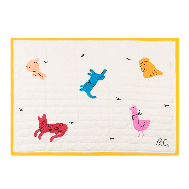 【 Bobo Choses 2019SS 】119267 Animals Blanket (106x75cm)