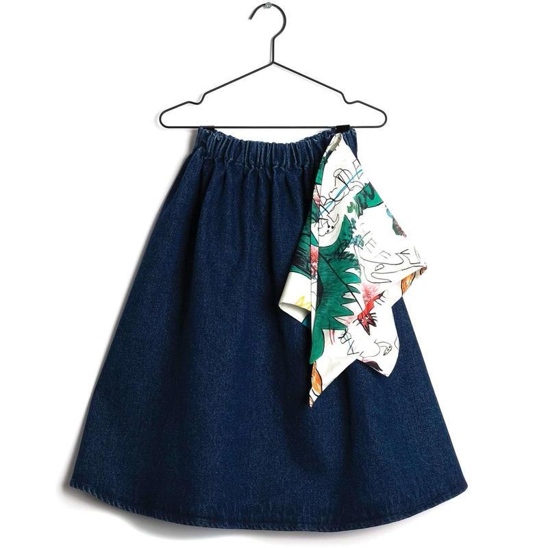【 WOLF & RITA 2019SS 】LURDES - Skirt / BLUE DENIM
