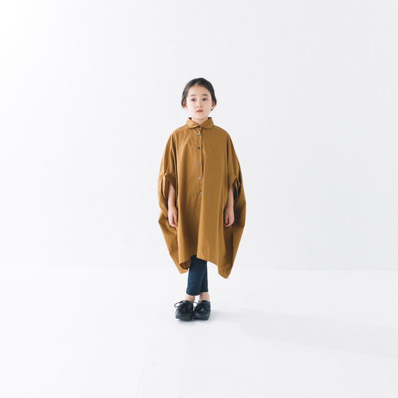 【 nunuforme 2019SS 】nf11-415-001 サークルシャツワンピース / Brown